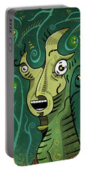 Portable Battery Charger featuring the digital art Scream by Sotuland Art
