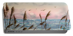 Sea Oats And Seagulls  Portable Battery Charger