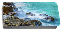 Sea Rocks In Montego Bay Portable Battery Charger