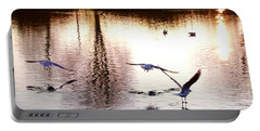 Seagulls In The Morning Portable Battery Charger