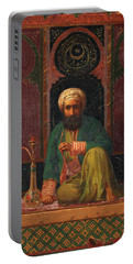 Seated Man With Hookah Portable Battery Charger