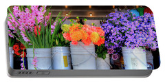 Seattle Flower Market Portable Battery Charger