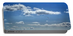 Portable Battery Charger featuring the photograph Seaview Blues by Edmund Nagele