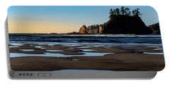 Portable Battery Charger featuring the photograph Second Beach by Ed Clark
