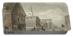 Second Street North From Market St. And Christ Church Portable Battery Charger