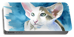 Selene Peterbald Cat Painting Portable Battery Charger