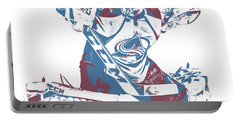 Semyon Varlamov Colorado Avalanche Pixel Art 1 Portable Battery Charger