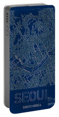 Seoul Blueprint City Map Portable Battery Charger