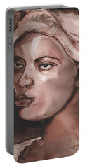 Sepia Woman Portable Battery Charger