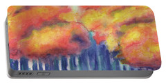 Portable Battery Charger featuring the painting September 2018 by Betsy Hackett