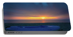 Portable Battery Charger featuring the photograph Serata Blu Sul Mare by Tim Bryan