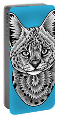 Serval Cat - In Illustration Portable Battery Charger