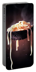 Serving Cooked Fettuccine Steaming Hot Portable Battery Charger