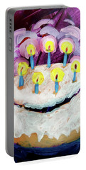 Seven Candle Birthday Cake Portable Battery Charger