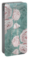 Shabby Chic Roses Distressed Portable Battery Charger
