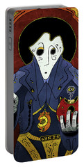 Portable Battery Charger featuring the painting Shadow Priest by Sotuland Art