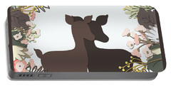 Shadowbox Deer Portable Battery Charger