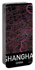 Shanghai City Map Portable Battery Charger