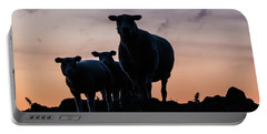 Portable Battery Charger featuring the photograph Sheep Family by Anjo Ten Kate