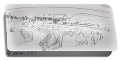 Sheep On Chatham Island, New Zealand Portable Battery Charger