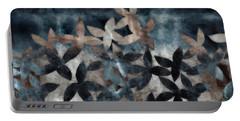 Shibori Leaves Indigo Print Portable Battery Charger