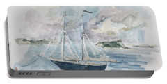 Ship Sketch Portable Battery Charger