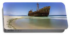 Shipwreck Dimitros Near Gythio, Greece Portable Battery Charger
