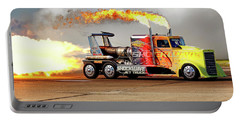 Portable Battery Charger featuring the photograph Shockwave Jet Truck - Nhra - Peterbilt Drag Racing by Jason Politte