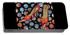 Shoes By Joan - Frangipani Pattern Pumps Portable Battery Charger