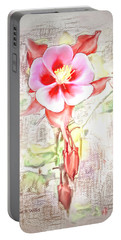 Showy Aqualigia Flower Portable Battery Charger