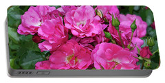 Shrub Rose Stylized Portable Battery Charger