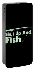 Shut Up And Fish Green Portable Battery Charger