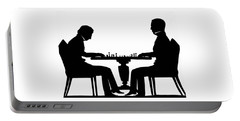 Silhouette Of Chess Players, Around 1845 Portable Battery Charger