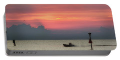 Silhouette's Sailing Into Sunset Portable Battery Charger