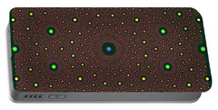 Portable Battery Charger featuring the digital art Silkshafts by Andrew Kotlinski