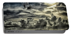 Portable Battery Charger featuring the photograph Silver Sun Over St. Lucia by Bill Swartwout Fine Art Photography