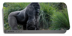Portable Battery Charger featuring the photograph Silverback Stare 1806 by Donald Brown