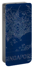 Singapore Blueprint City Map Portable Battery Charger