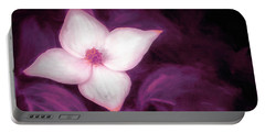 Single Dogwood Flower Purple Portable Battery Charger