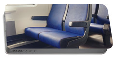 Sitting On Trains Portable Battery Charger