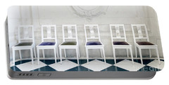 Portable Battery Charger featuring the photograph Six Rodin Chairs by Craig J Satterlee