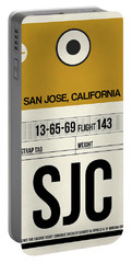 Sjc San Jose Luggage Tag I Portable Battery Charger