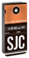 Sjc San Jose Luggage Tag II Portable Battery Charger