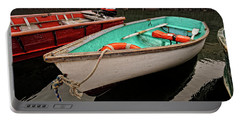 Portable Battery Charger featuring the photograph Skiffs by Tom Gresham