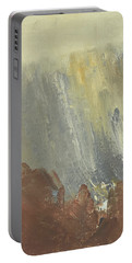 Skogklaedd Fjaellvaegg I Hoestdimma- Mountain Side In Autumn Mist, Saelen _1237, 90x120 Cm Portable Battery Charger