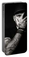 Skull Tattoo On Hand Covering Face Portable Battery Charger