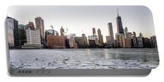 Skyline And Cracks In The Water Portable Battery Charger