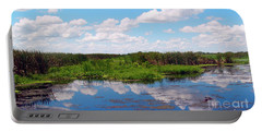 Skyscape Reflections Blue Cypress Marsh Near Vero Beach Florida C6 Portable Battery Charger