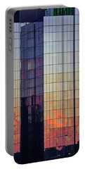 Portable Battery Charger featuring the photograph Skyscraper Sunset by Tom Gresham