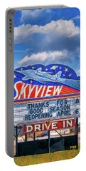 Skyview Drive-in Theater Neon Sign Portable Battery Charger